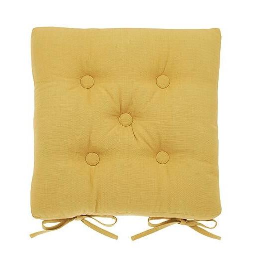 seat pad cushion in saffron yellow