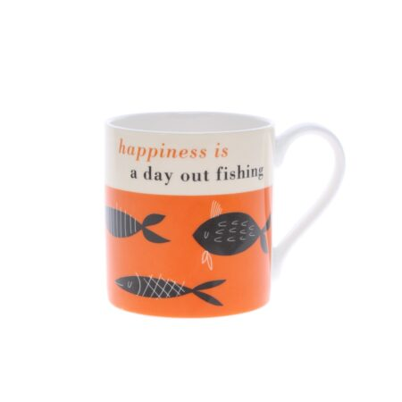 happiness is a day out fishing mug