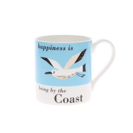 happiness is being by the coast seagull mug