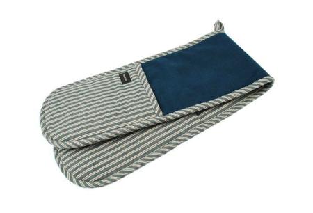 hampton stripe double oven glove