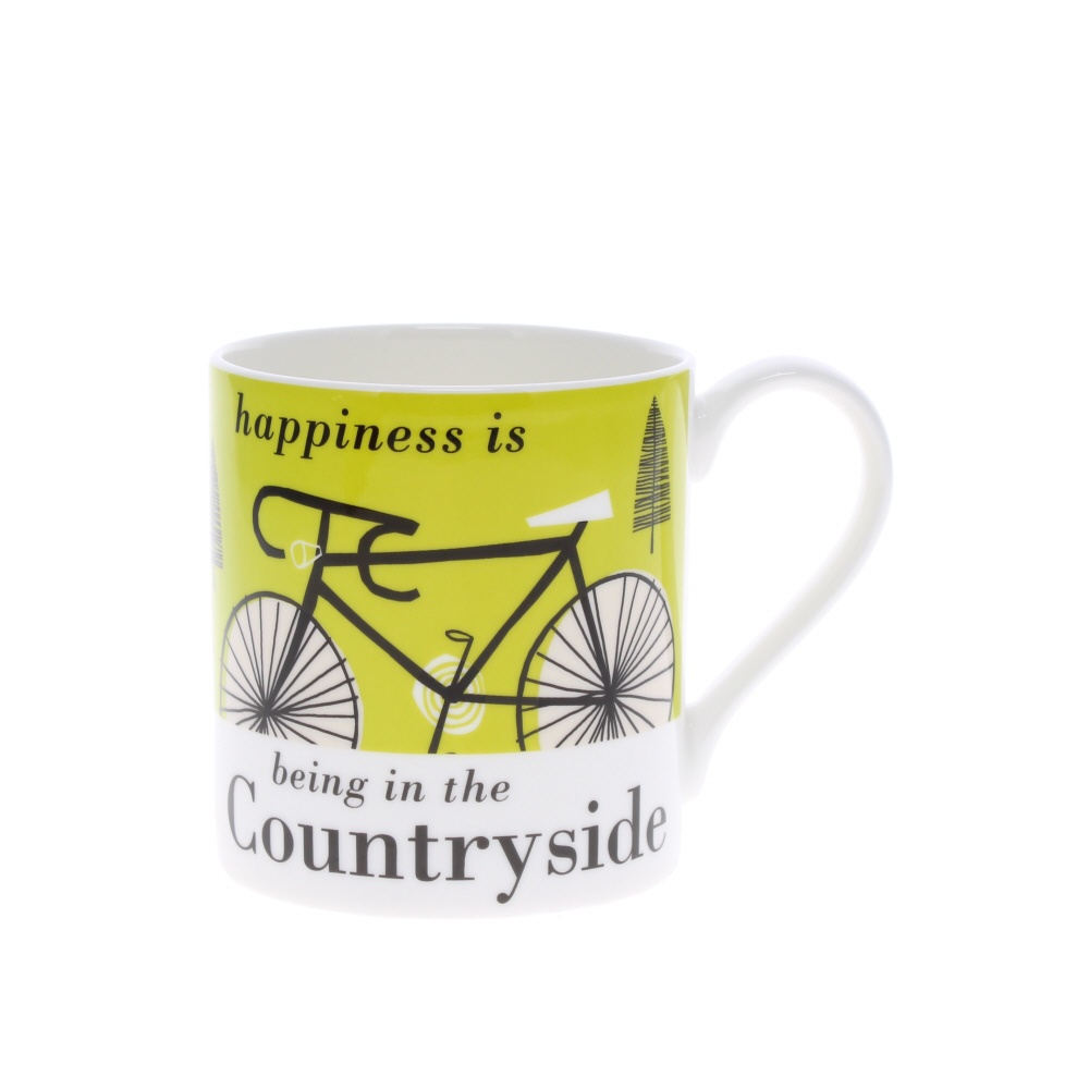 Happiness is being in the countryside mug