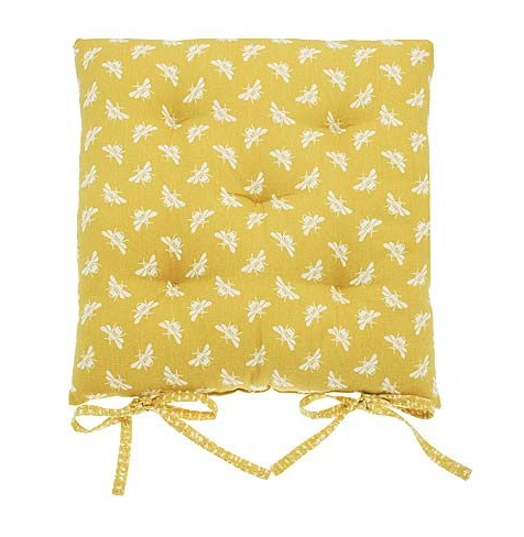 Bee seat cushions with ties