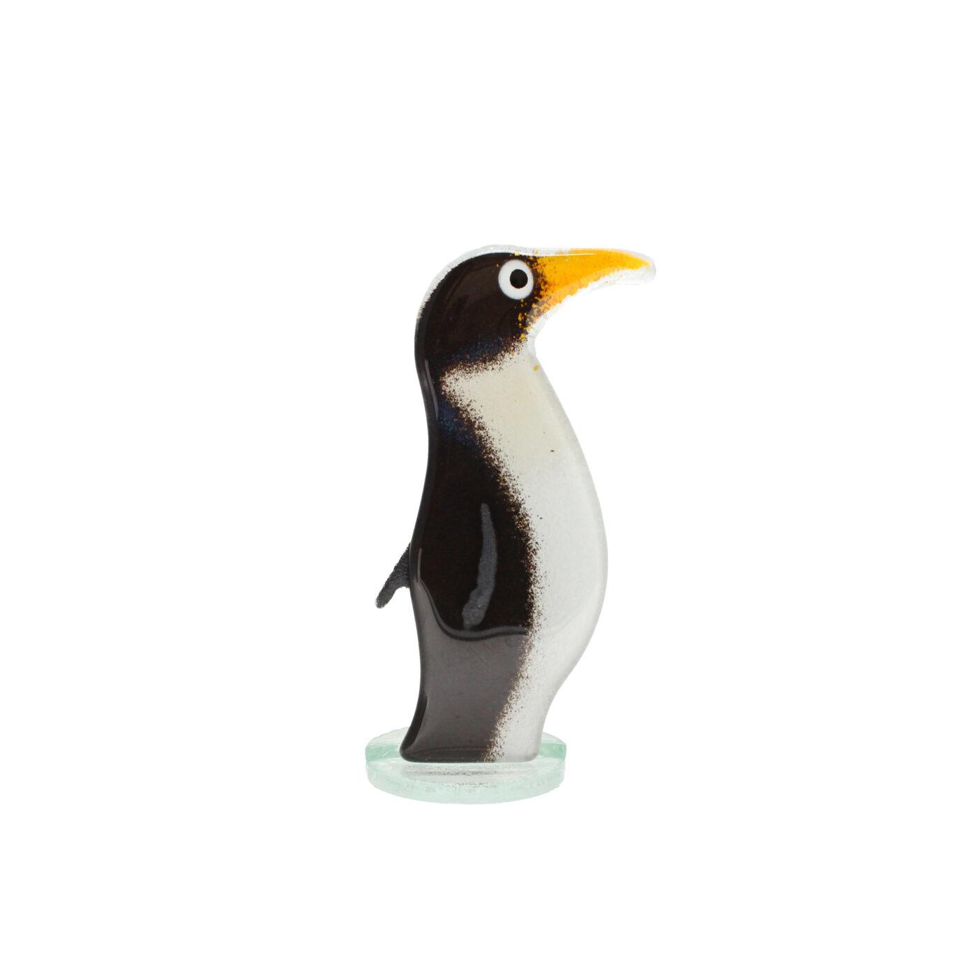 glass penguin sculpture