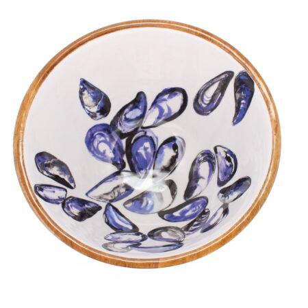 mango wood mussel bowl