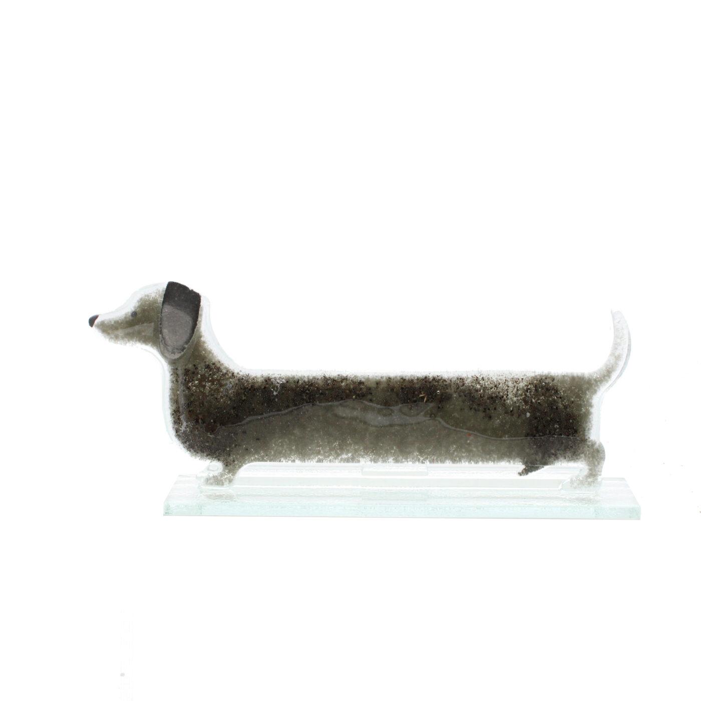 glass sausage dog charcoal