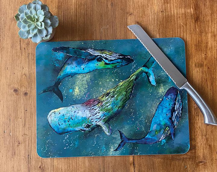 large table mat whale design