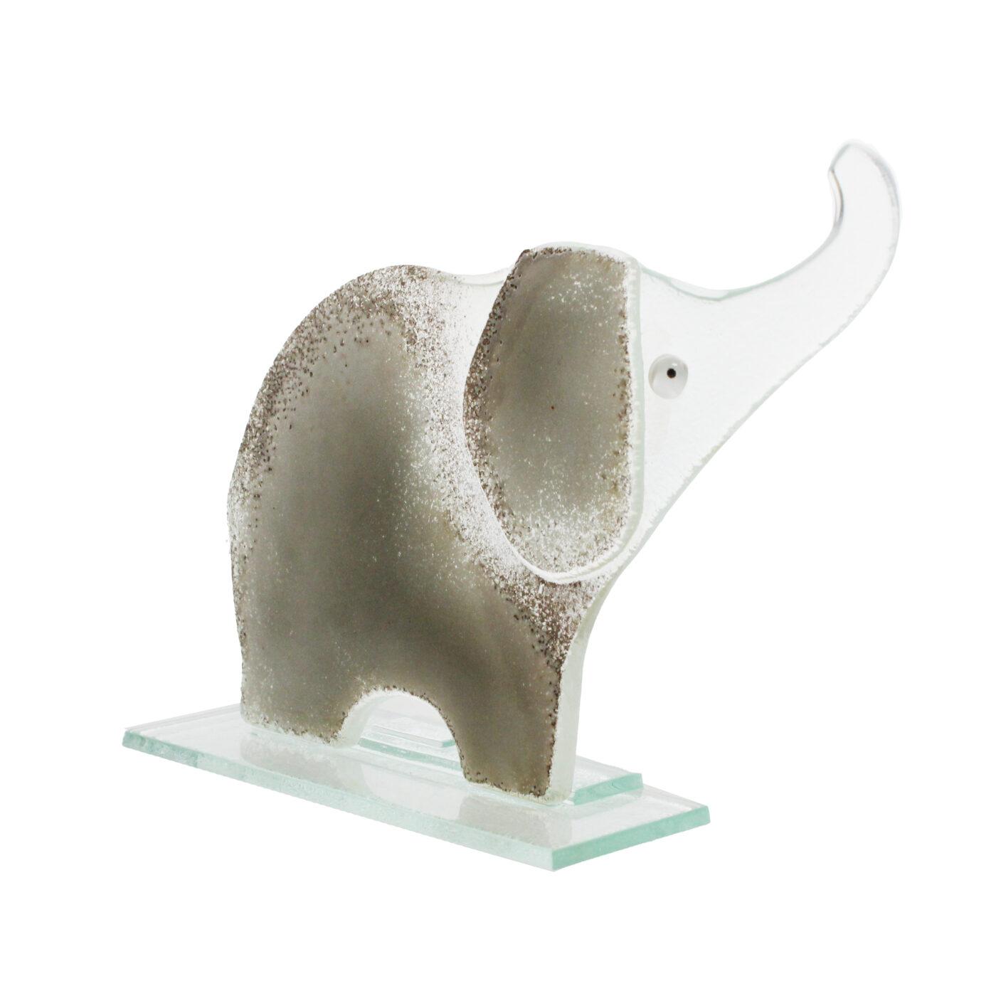 glass elephant grey