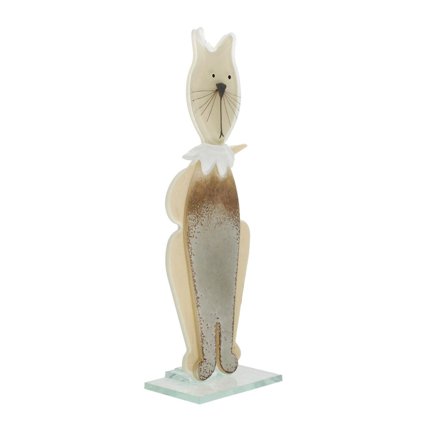 glass cat sculpture