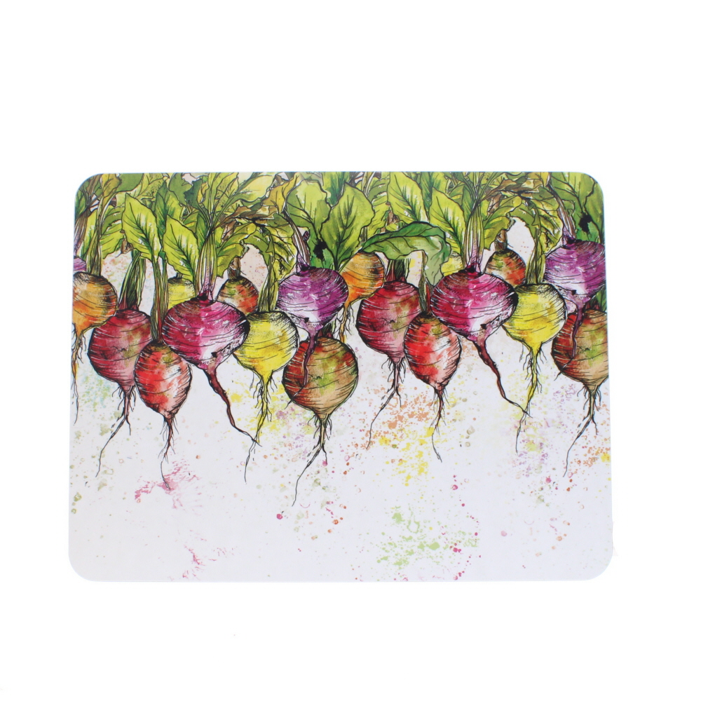 large table mat radishes design