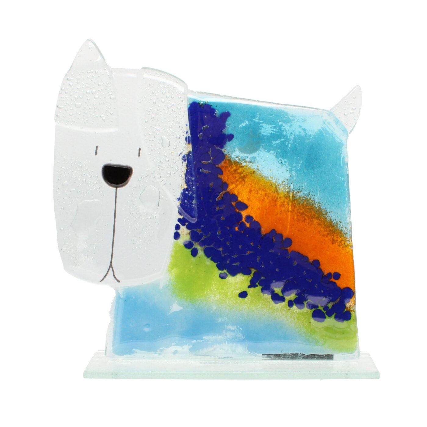 glass dog ocean large