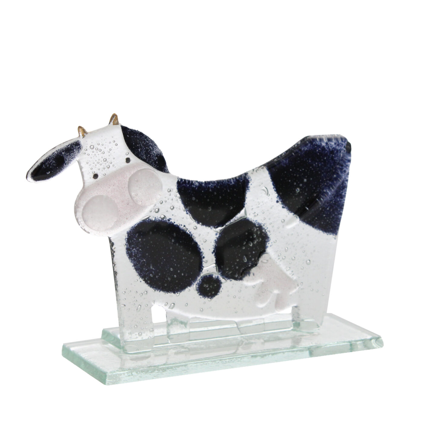 glass cow moo moo sculpture