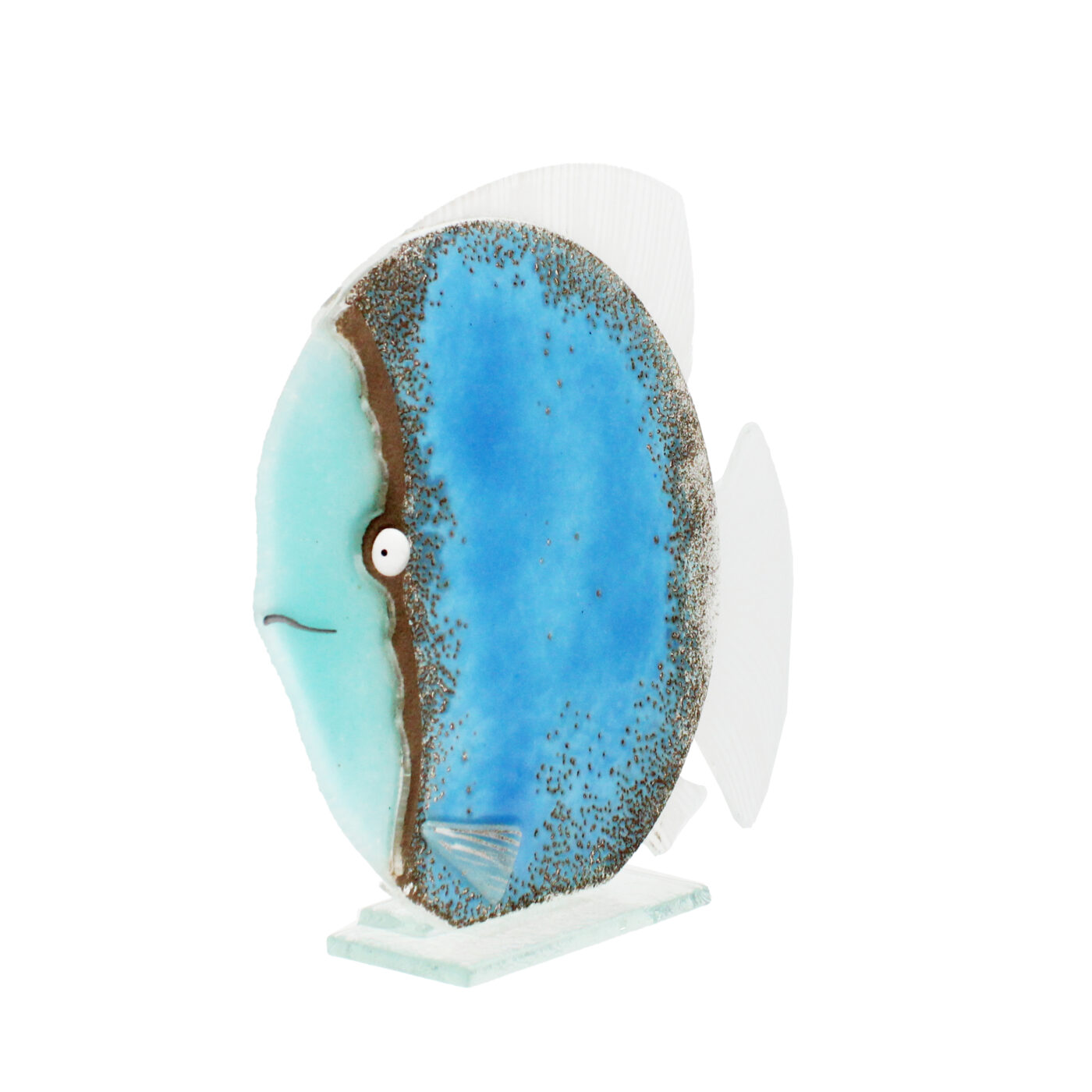 glass fish ocean blue large