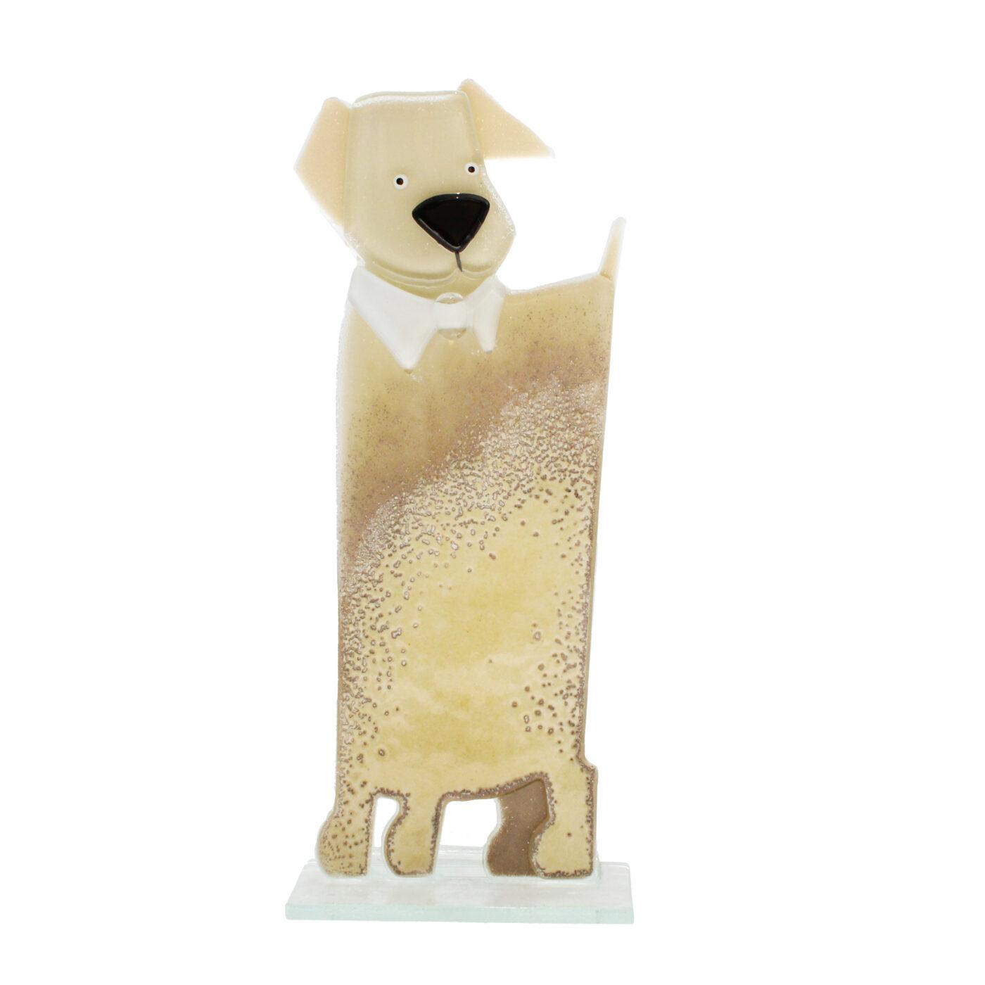 glass dog tall vanilla colour