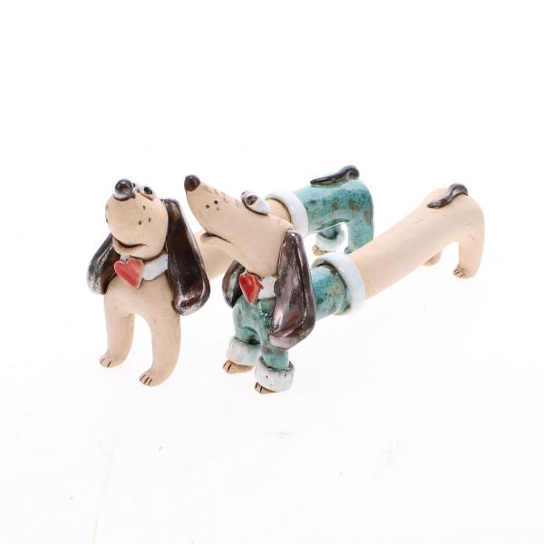 dachshund teal clothes