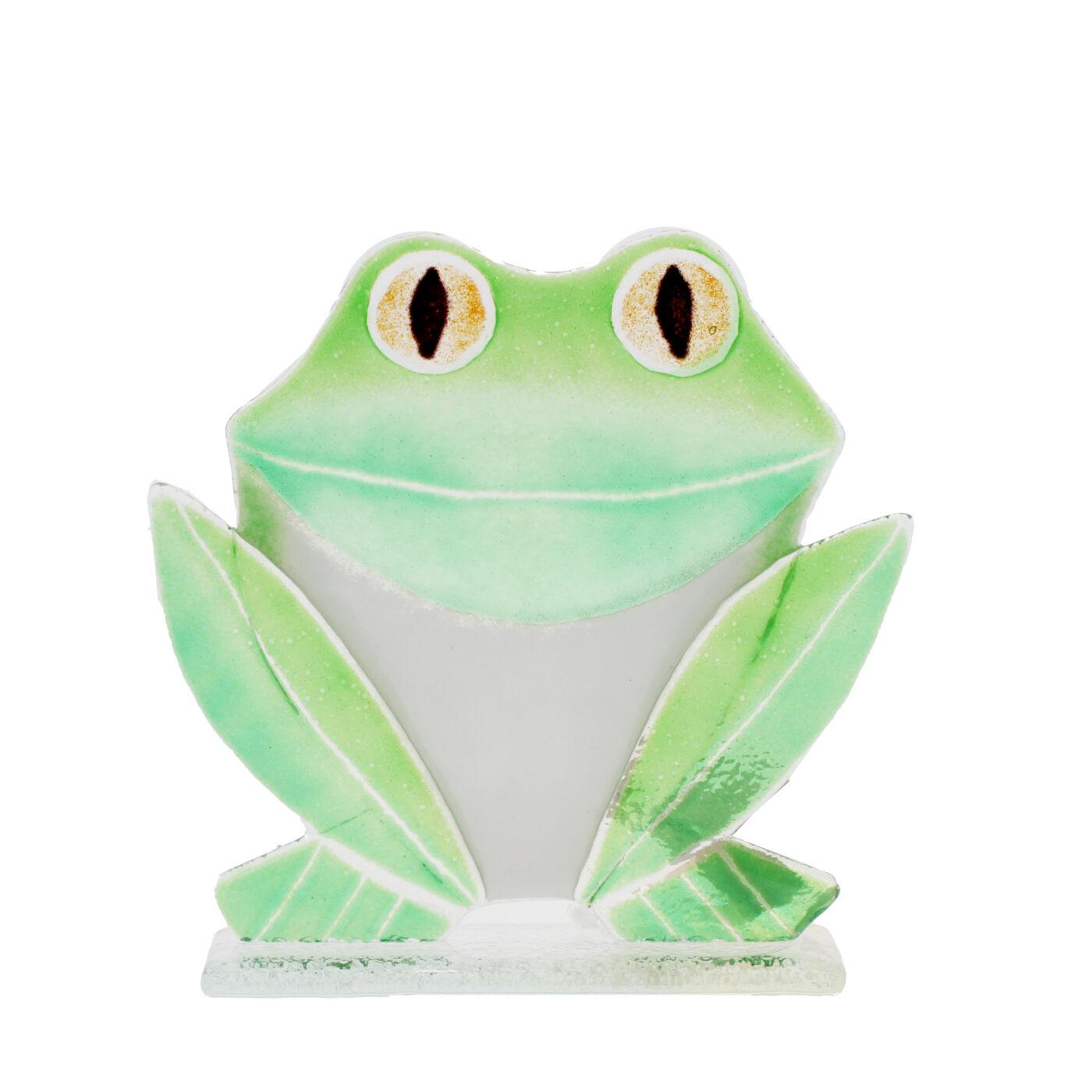 glass frog sculpture