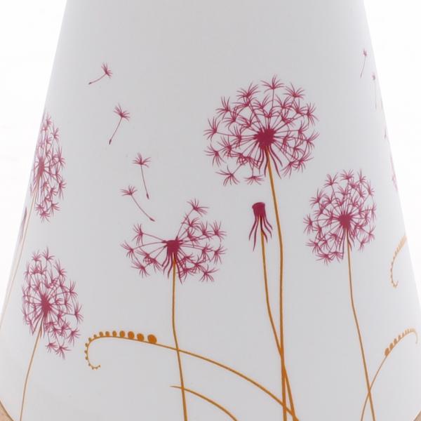 pink dandelion candle holder