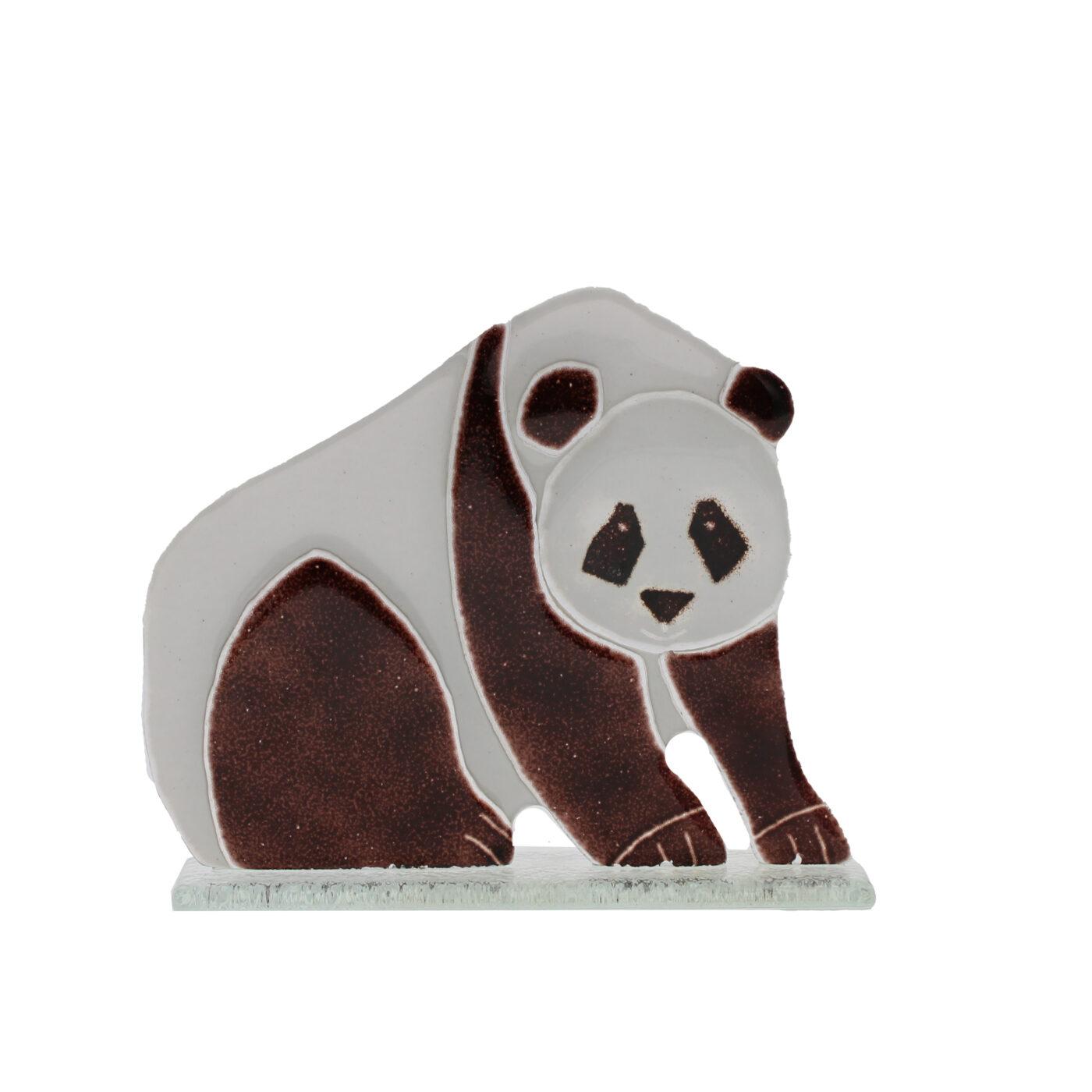 glass panda ornament
