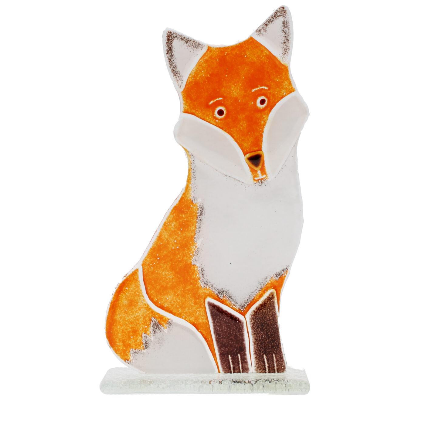 glass fox ornament