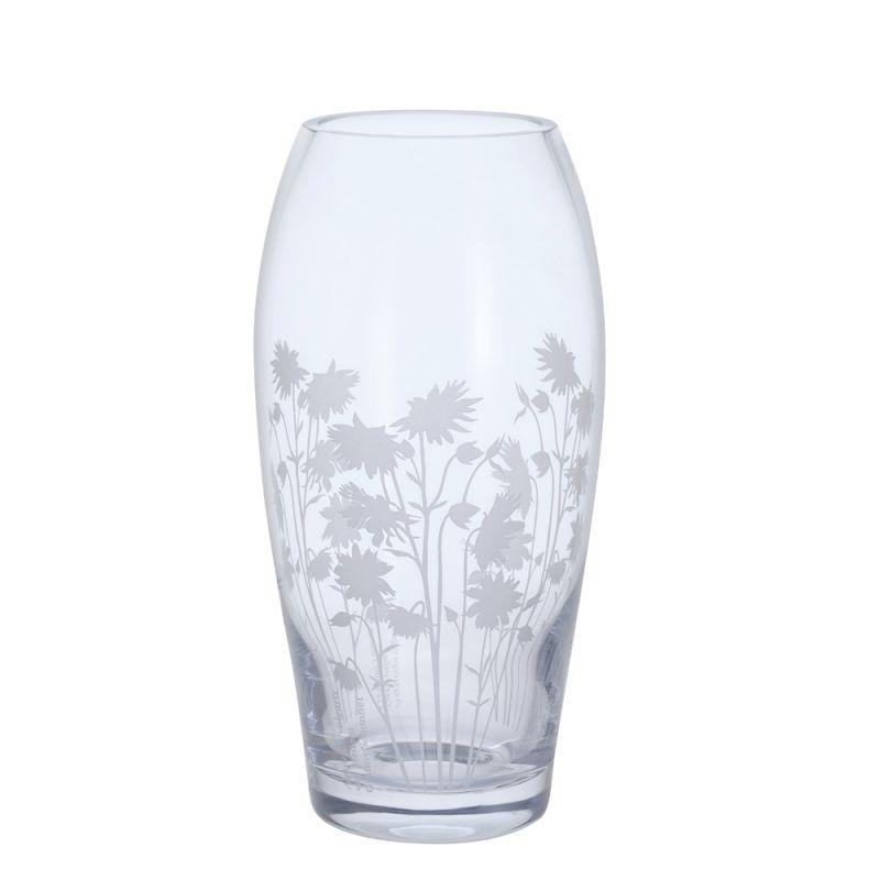 Aquilegia glass vase