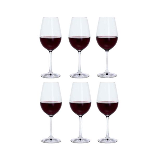 red wine glasses x6