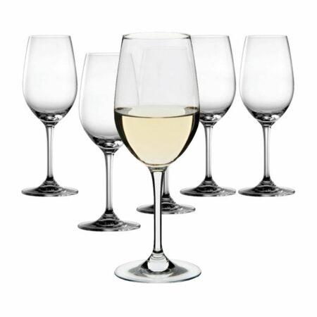 white wine glasses x6