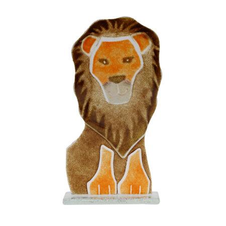 glass lion ornament