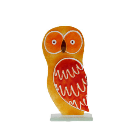 glass owl golden