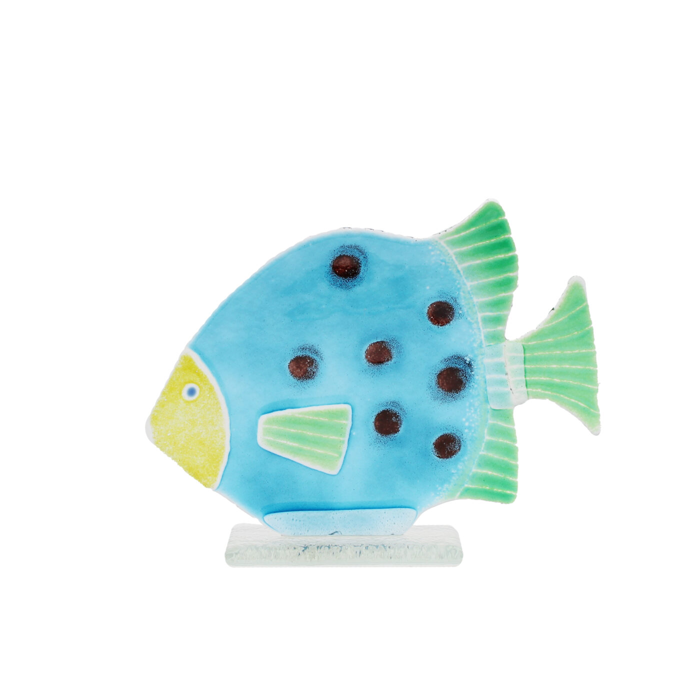 fused glass fish ornament