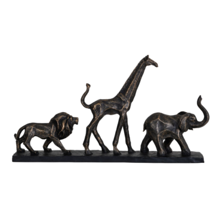 bronze safari sculpture