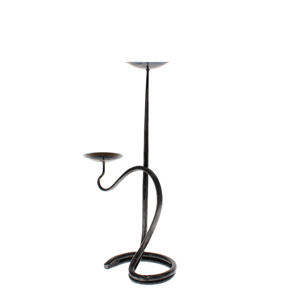 double round candlestick with bowls