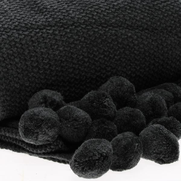 retreat knitted pompom throw