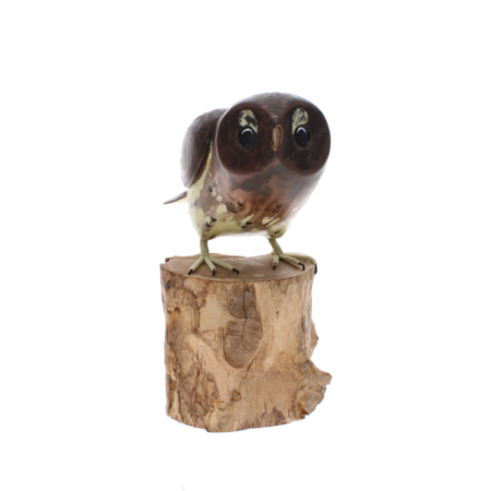 tawny owl taking off sculpture