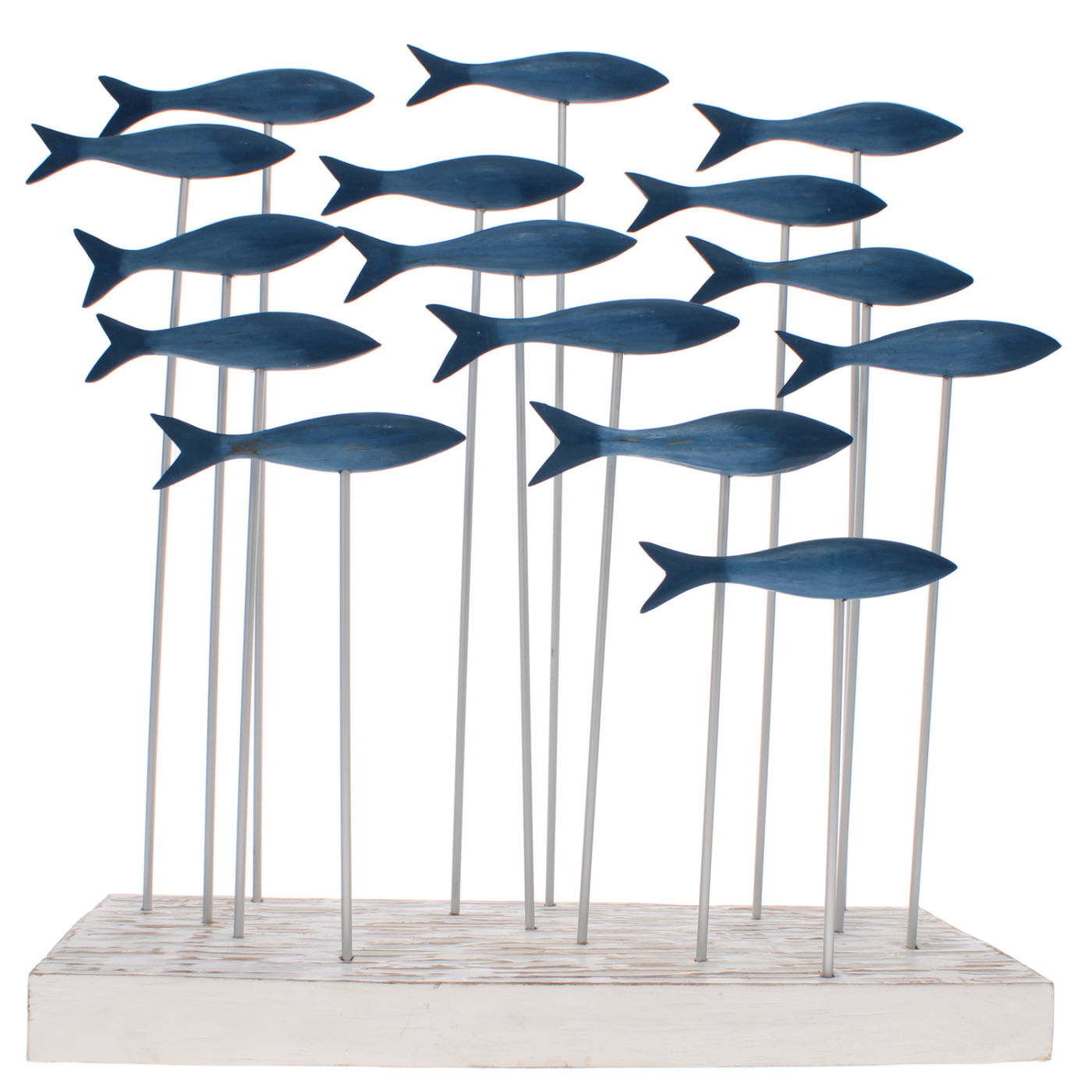 shoal of blue fish ornament