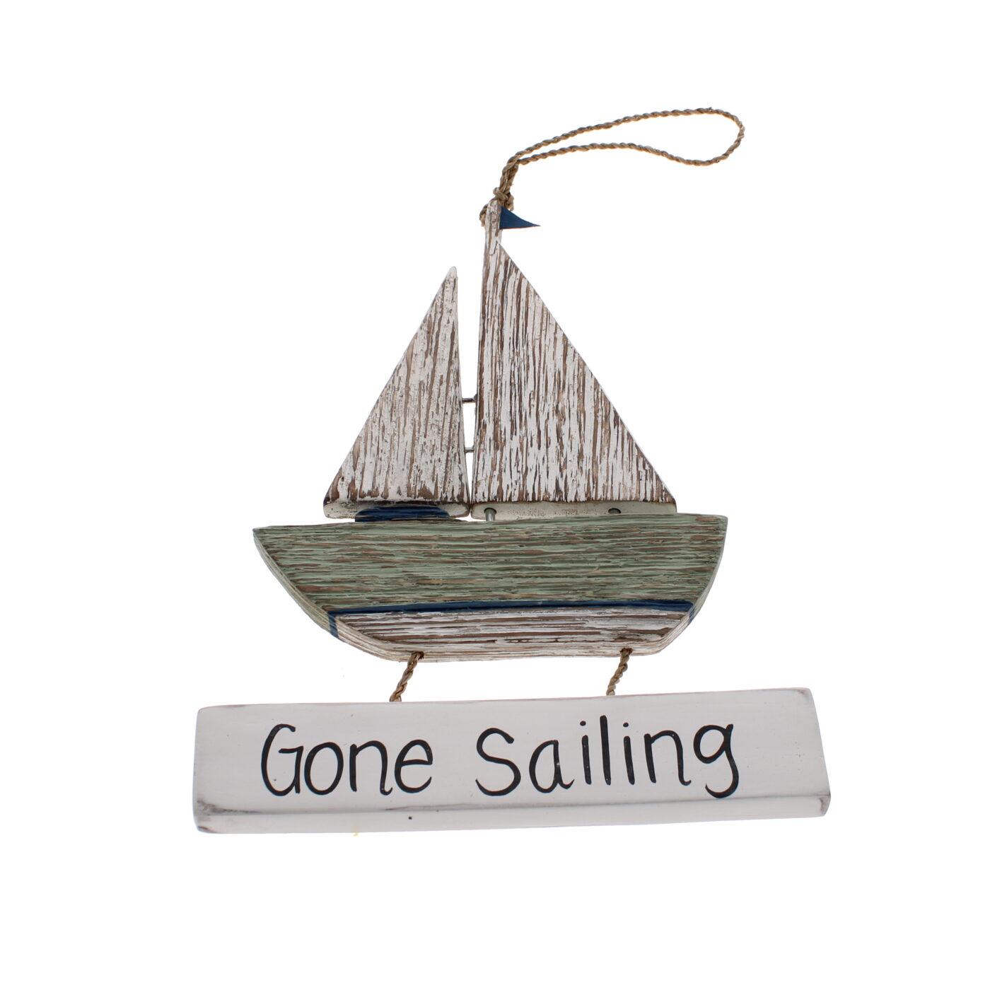 gone sailing sign