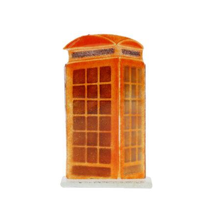 glass telephone box ornament