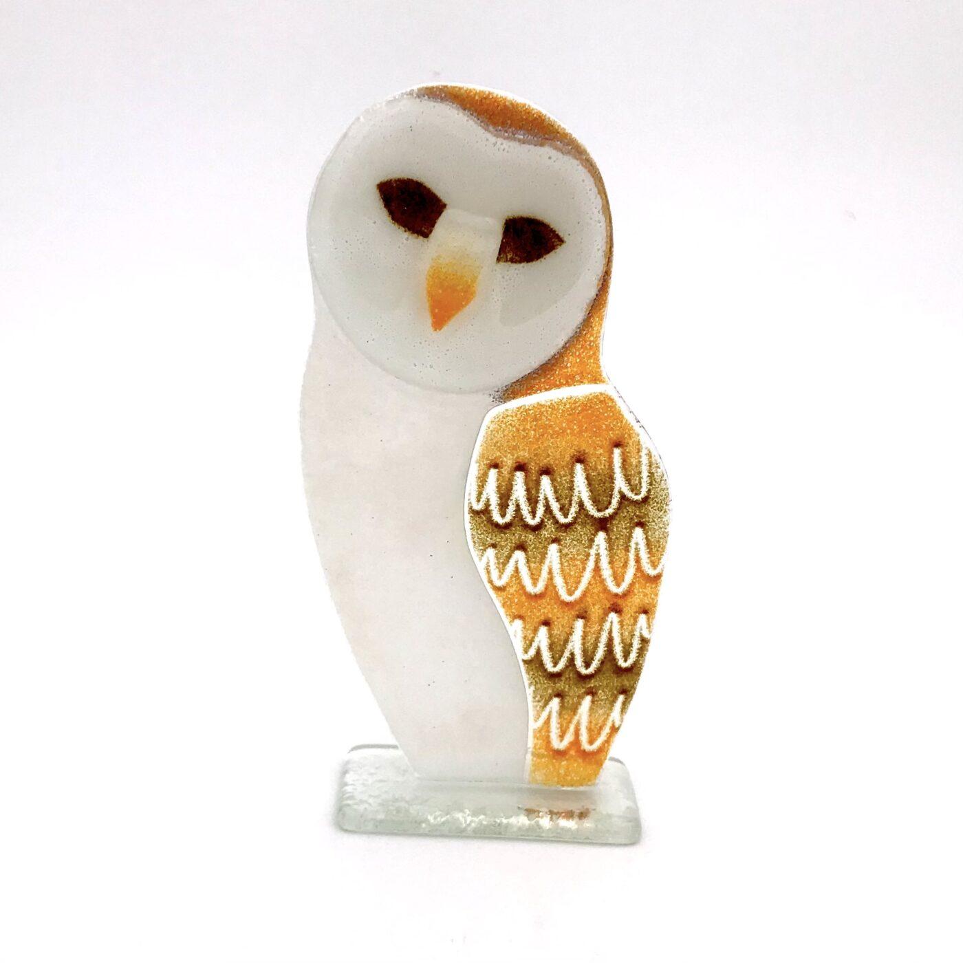 glass barn owl
