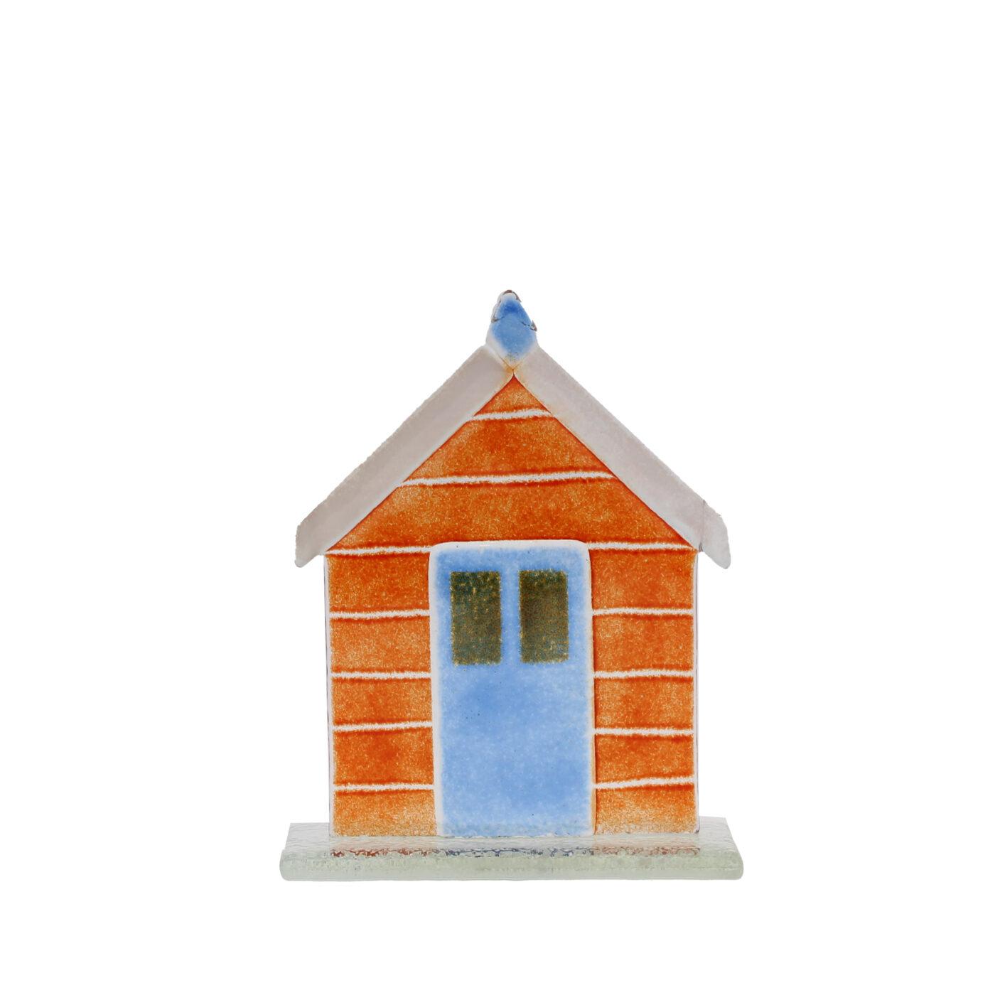 glass beach hut