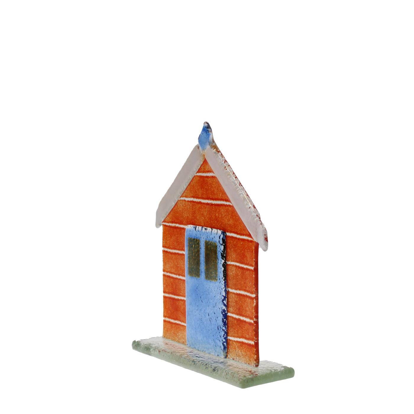 glass beach hut red