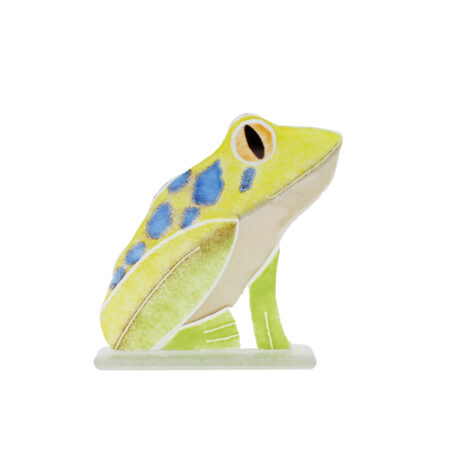glass frog ornament
