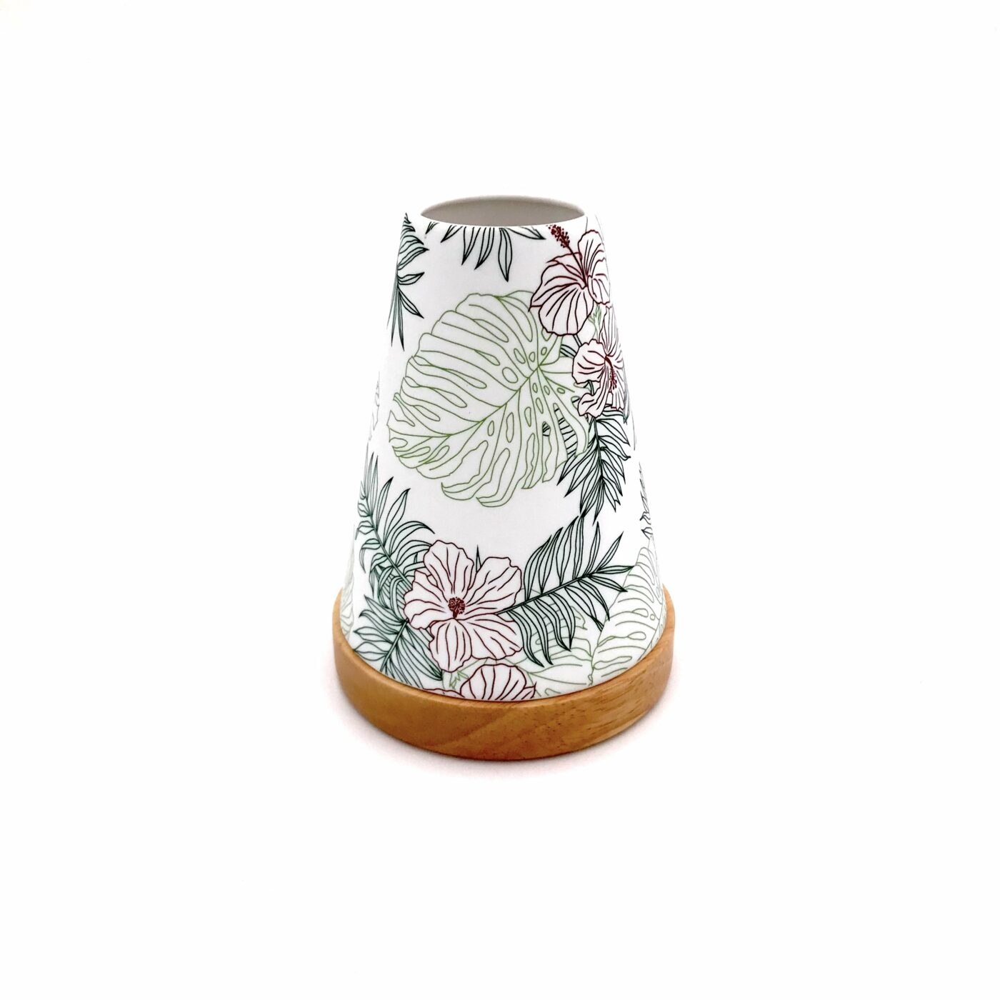 green jungle candle holder