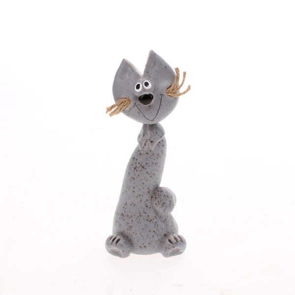 crazy cat grey with jute whiskers