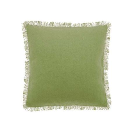 dhurrie olive cushion