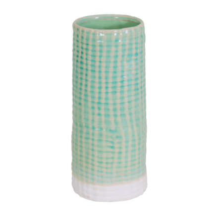 shorten mint ceramic vase