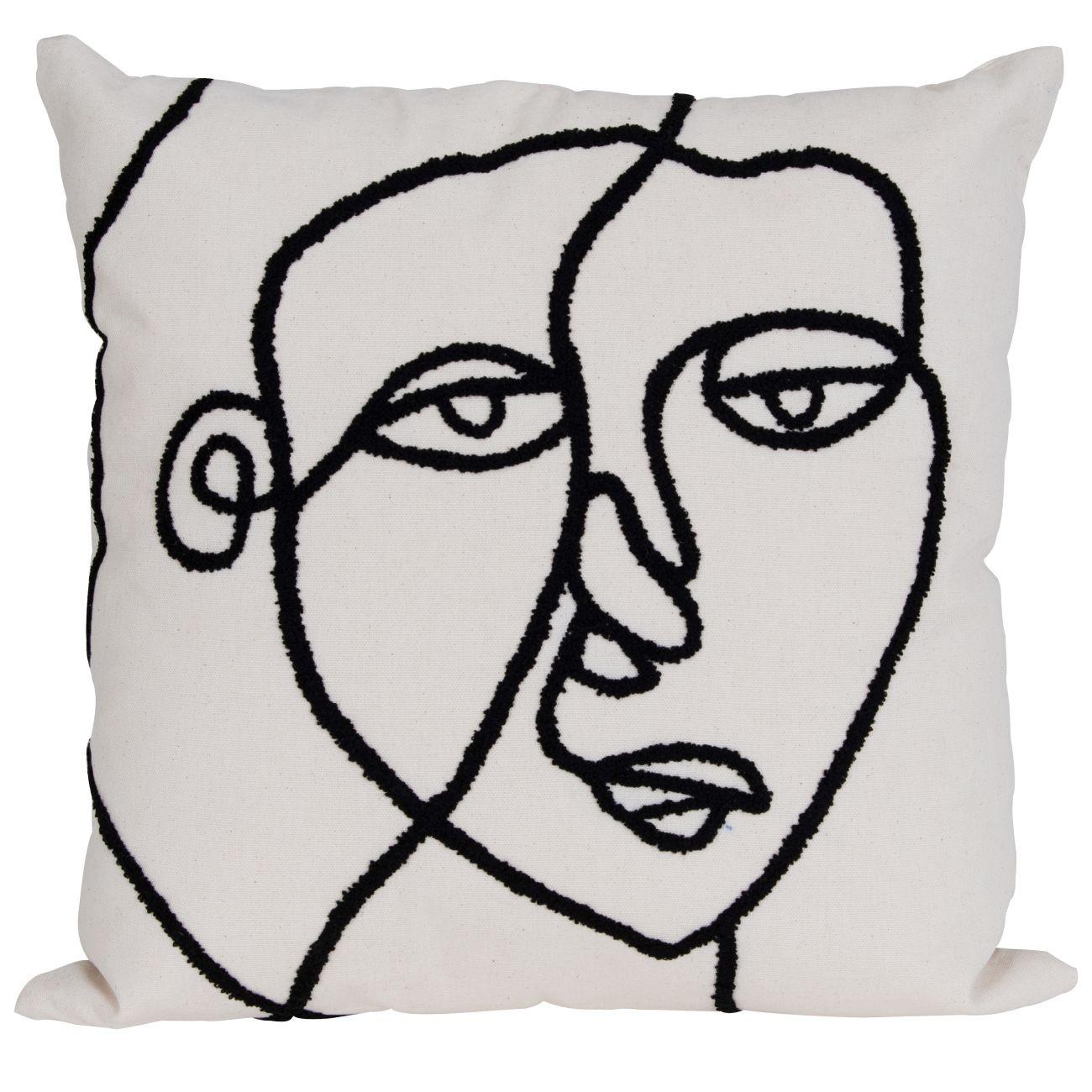 abstract face cushion