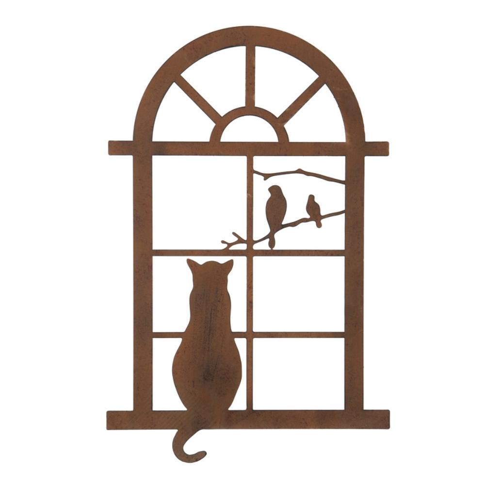 cat in window wall art