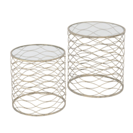 Gatsby Gold Nesting Side Table
