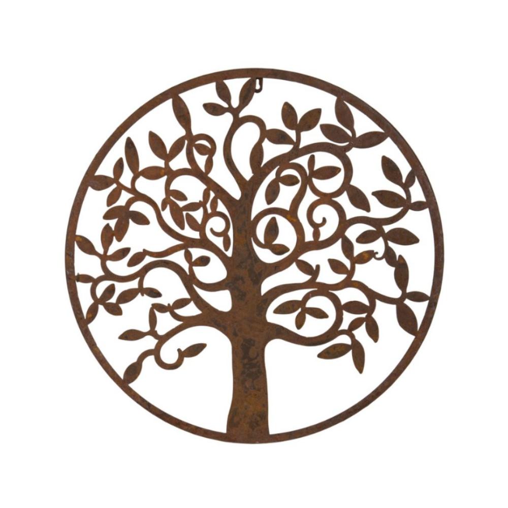 round tree wall plaque