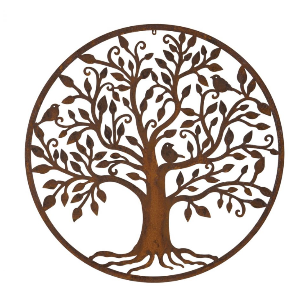 bird tree plaque XL