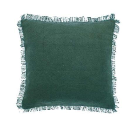 dhurrie slate green cushion