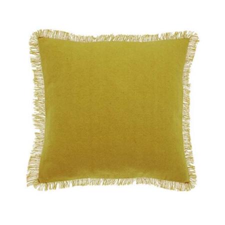 dhurrie mustard cushion